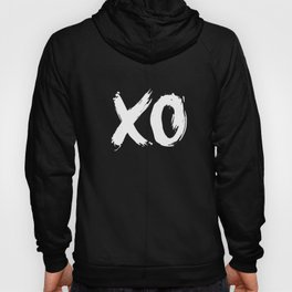 XO Hugs and Kisses white and black gift for her girlfriend xoxo bedroom art and home room wall decor Hoody