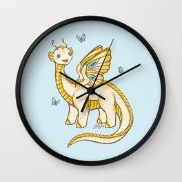 Golden Tipped Dragon Fly Wall Clock