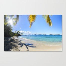 St John Salomon Beach Canvas Print