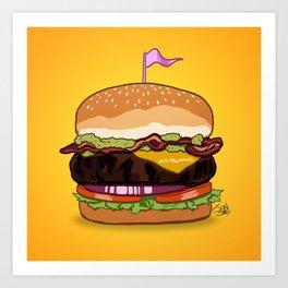 Bacon Cheeseburger Art Print