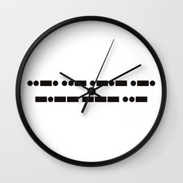 Fuck You (in Morse) Wall Clock