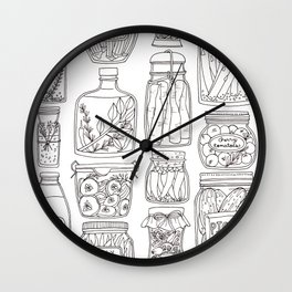 Pickles Print Wall Clock