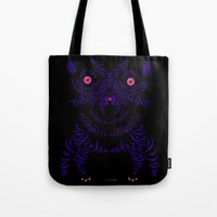 yorkie Tote Bags featuring Yorkie by lunesme