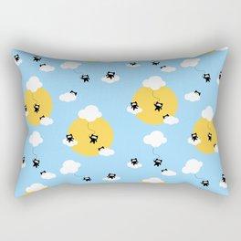 Ninja cats in the sky pattern Rectangular Pillow