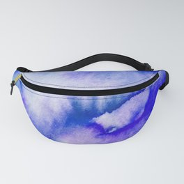 Watercolor texture - electric blue Fanny Pack