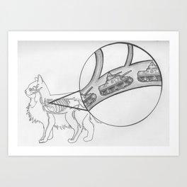 Circulatory System of Bad Cat Art Print