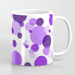 Purple Polka Coffee Mug