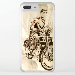 BSA - Vintage Poster Clear iPhone Case