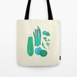 Retro Veggies Tote Bag