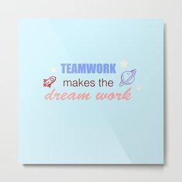 BTS teamwork / dream work (pastel version) Metal Print