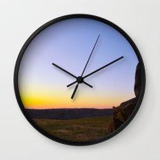 Facing Dawn Wall Clock