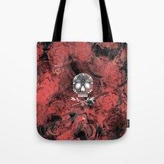 Roses and Skulls Tote Bag