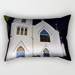 Church under the Lights Rectangular Pillow