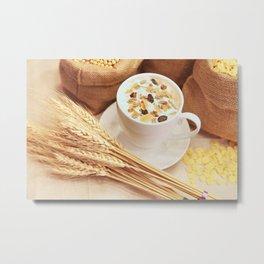 Cafe cereal Metal Print