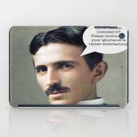 tesla iPad Cases featuring Nikola Tesla by Pink Pony