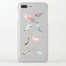 Tropical birds Clear iPhone Case