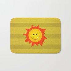 Smiling Happy Sun Bath Mat