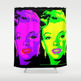 Marilyn - Neon 2 Shower Curtain