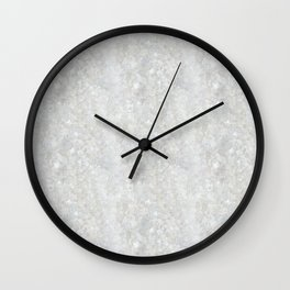 White Apophyllite Close-Up Crystal Wall Clock