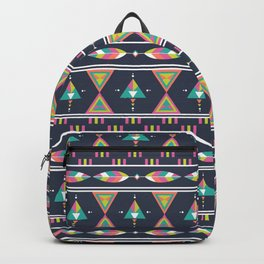 Ethnic geometric colorful aztec seamless pattern Backpack