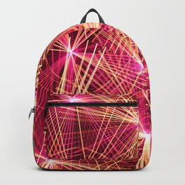 Raspberry Supernovae Geometric Abstract Backpack