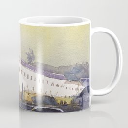 Watercolor painting of Monastery in Old Town Quito, Ecuador Coffee Mug