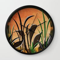 twilight Wall Clocks featuring Twilight by Judith Lee Folde Photography & Art