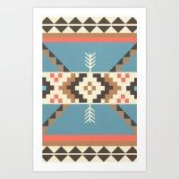 aztec Art Prints featuring AZTEC by 6ense