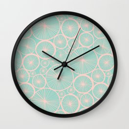 Pastel Wheels #society6 #pattern Wall Clock