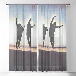 Sunset Jump Sheer Curtain