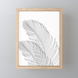 Palm Leaves Finesse Line Art #1 #minimal #decor #art #society6 Framed Mini Art Print