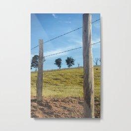 Farm - Fence Metal Print