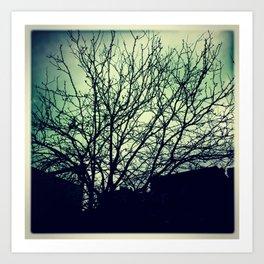 Fall of trees Art Print