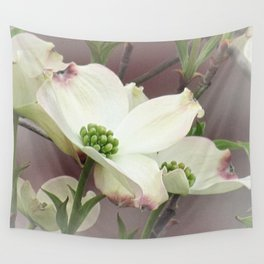 Dogwood Tree Spring Flowers A447 Wall Tapestry