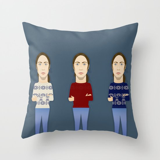 Watching The Detectives #1: Landscape Throw Pillow