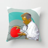 science Throw Pillows featuring Science by Renaissance Youth
