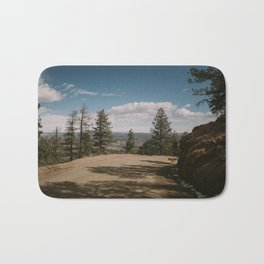 A view of a city from the road up Bath Mat