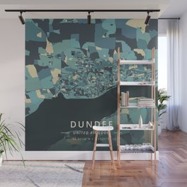 Dundee, United Kingdom - Cream Blue Wall Mural