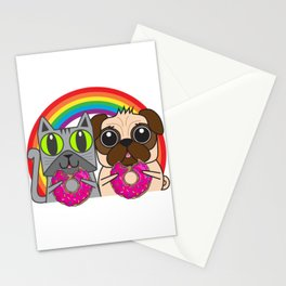 Kitty and Puggy Stationery Cards