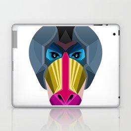 Male Mandrill Head Flat Icon Laptop & iPad Skin