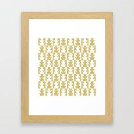 Art Deco Jagged Edge Pattern Gold Framed Art Print