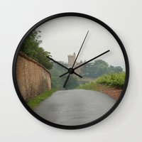 france Wall Clocks featuring France by LonelyHeartsClub