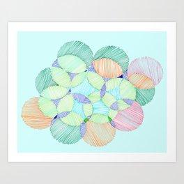 Circles and lines Art Print
