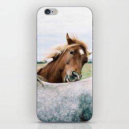Iceland - Horse love (Leica M3 & Kodak film) iPhone Skin