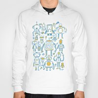 robots Hoodies featuring Robots by Peter Clayton