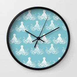 Nautical decor - Octopus Pattern  Wall Clock