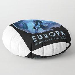 Europa - NASA Space Travel Poster Floor Pillow