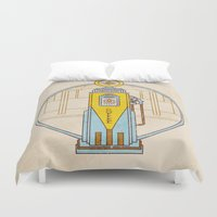 pocket fuel Duvet Covers featuring Fuel Up by Rachael Sinclair