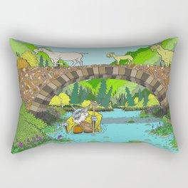 Three Billy Goats Gruff (color) Rectangular Pillow