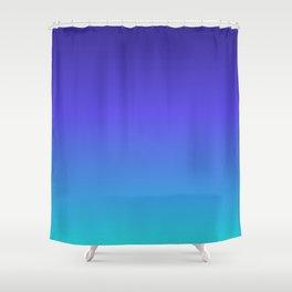 Hipster deep sea gradient Shower Curtain